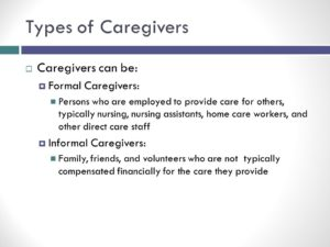 Types of caregivers